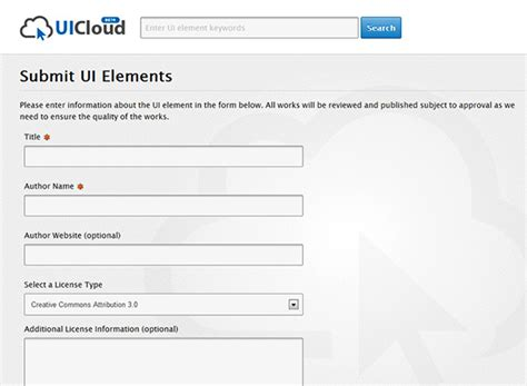 Design Inspiration Search Engine | uicloud powerful search engine for ui elements and design