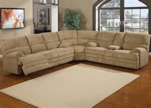Sectional Sofas With Recliners 3pc Traditional Modern Sectional Recliner Fabric Sofa Set