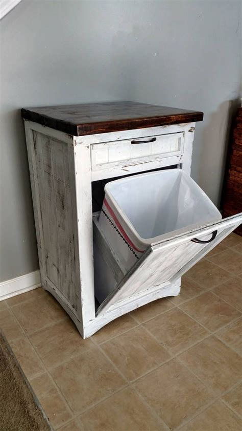 tilt out cabinet plans best 25 trash can cabinet ideas on
