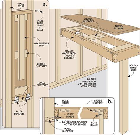 fold  workbench woodworking plans