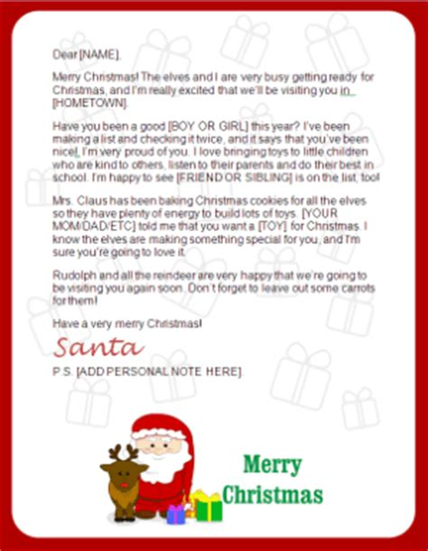 personalized letter from santa claus printable printable santa letters personalized printable letters
