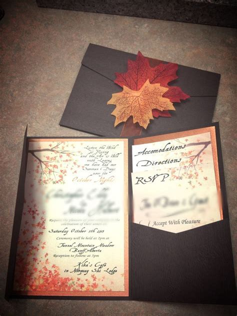 25  Best Ideas about Fall Wedding Invitations on Pinterest