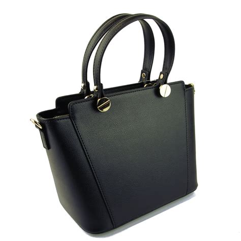 Italian Leather by Adelasia Italian Leather Handbag Black