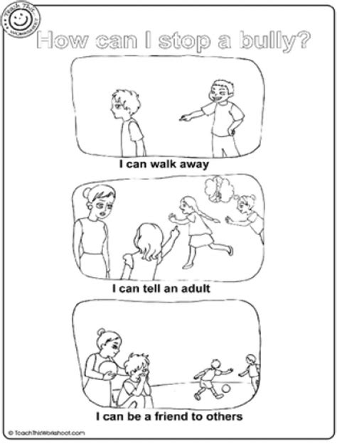 anti bullying coloring pages for kindergarten bullying worksheets for kids worksheets releaseboard