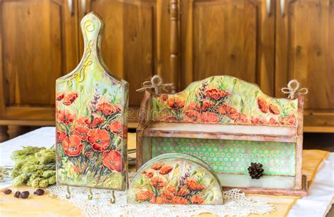 Decoupage Home Decor - decoupage home decor wooden housewares decorated with