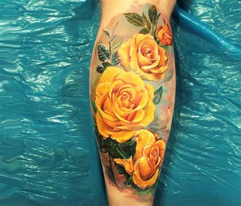 blue and yellow rose tattoo yellow tattoos search