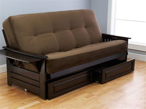 wooden futon microfiber futon sofa bed with storage wooden global