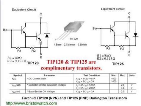 transistor darlington tip31 using the tip120 tip125 darlington transistors with arduino