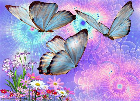 imagenes flores en 3d descargar gratis mariposas flores 3d arte fondos de