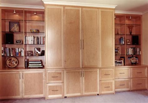 home office wall cabinet with a inside