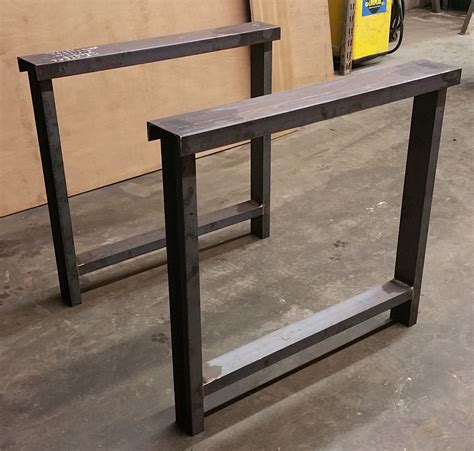 butcher block desk legs metal table legs 3 quot c channel custom made beam legs