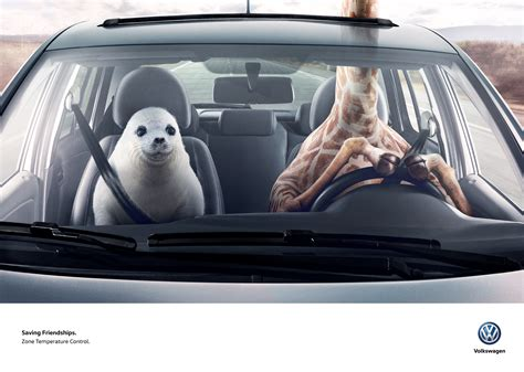 volkswagen ddb volkswagen print advert by ddb giraffe seal ads of