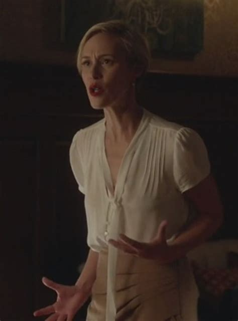 liza weil as bonnie winterbottom how to get away with murder blouse white pencils beige skirt how to get away with