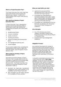 project execution plan template project execution plan template and guide hashdoc
