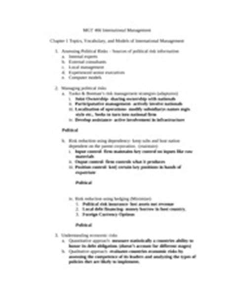 study guide outline template mgt466 deresky chapter 6 study guide outline 2 b