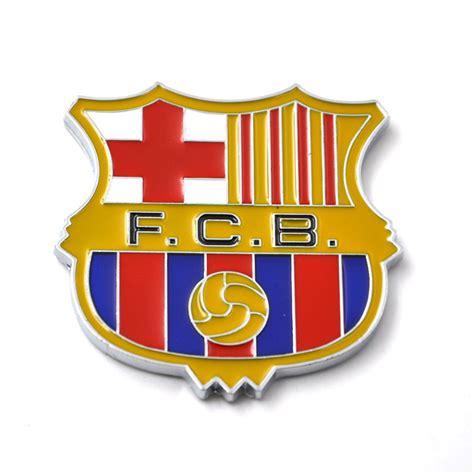 Sticker Stiker Motor Logo Club Bola 3d 1pcs universal 3d fcb football club logo car auto styling symbol metal alloy emblem badge
