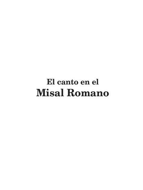 Cantos Del Misal (Incompleto)