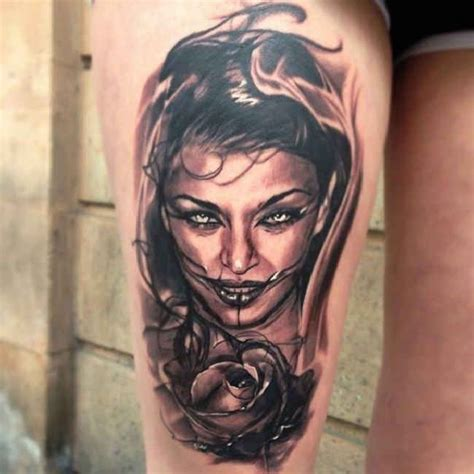 tattoo ideas portraits 3d portrait tattoo with rose tattoo tattooed tattoos