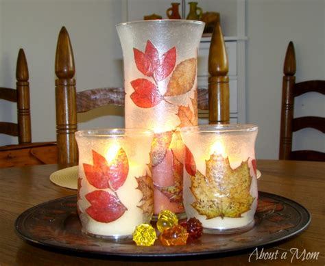 Candle Holder Store Fall Decoupage Candle Holder Dollar Store Craft Project