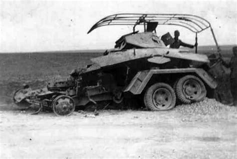 Sd Kfz 231 232 233 Destroyed Six Wheeled Sdkfz 232 Funk Armoured Car