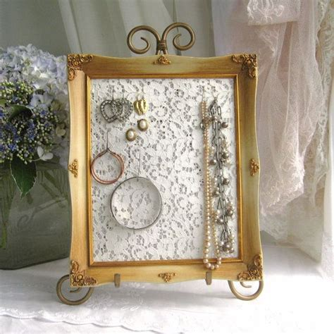romantic earring holder shabby chic jewelry display organizer frame