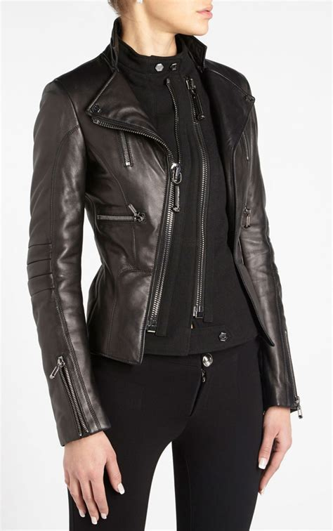 Jacket With Zipper philipp plein skull zipper leather jacket black