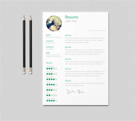 Best Resume Templates Reddit by 30 Free Amp Beautiful Resume Templates To Download Hongkiat