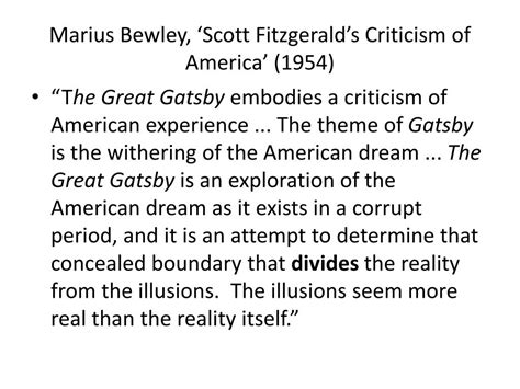 literary themes of the great gatsby ppt engl1001 american literature f scott fitzgerald