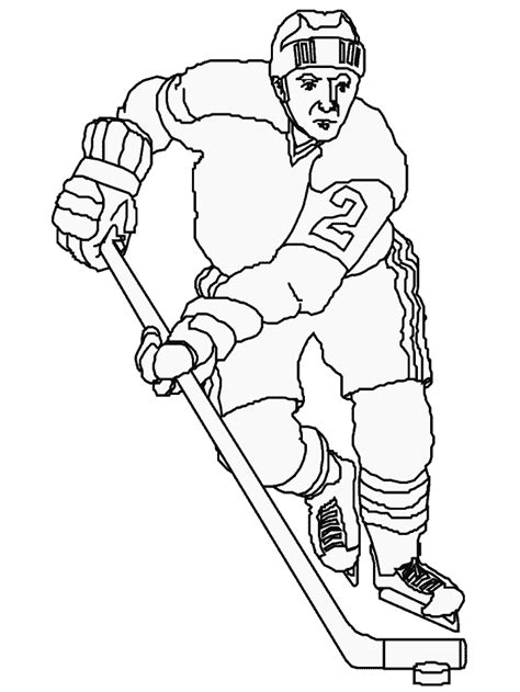 Coloring Pages Of Hockey Players | hockey player coloring pages coloring home