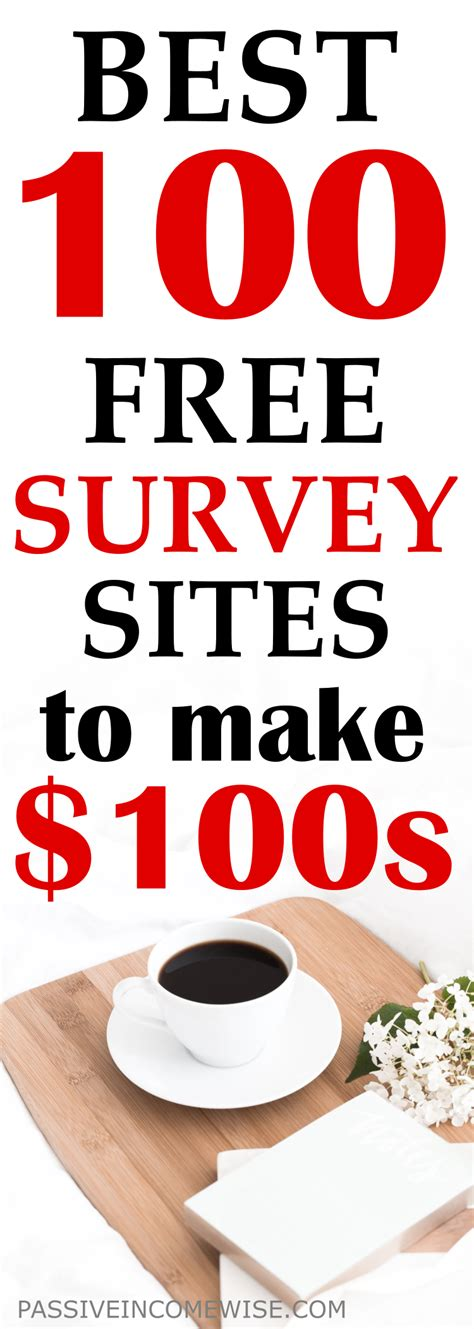 best to make money best 100 free survey to make money passive income wise