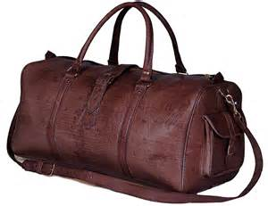 Leather Throw Rugs Large Leather Duffel Bag Dark Brown Moroccan Buzz