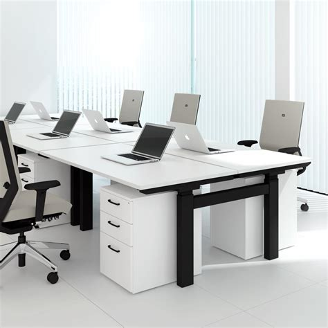 sit stand office desk format heavy 2 person sit stand workstation