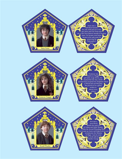 chocolate frog box template with cards chocolate box cards replica characters collectible cards