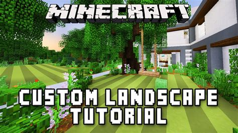 how to make a swing set in minecraft minecraft tutorial swing set and custom garden landscape