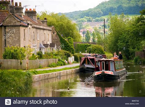 canal boats england bathton banes england uk canal boats on the kennet and