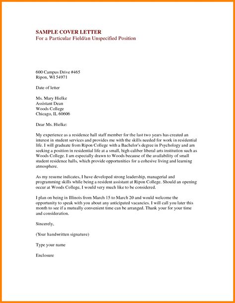 cover letter for dean of students free resume templates
