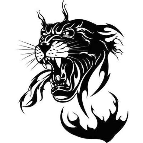 tribal panther head tattoo design