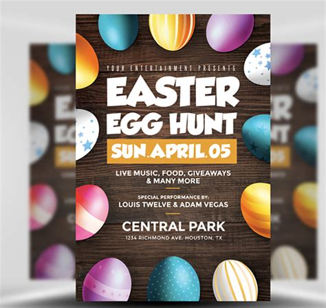 easter flyer template easter egg hunt flyer template flyerheroes