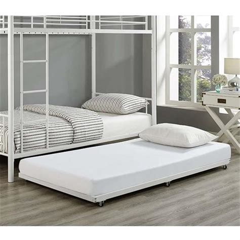Roll Out Trundle Bed Frame Walker Edison Roll Out Trundle Bed Frame White Bt40tbwh
