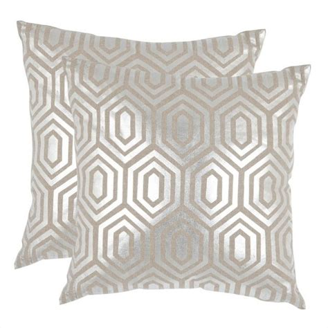 Silver Decorative Pillows by Safavieh Pillow 22 Inch Decorative Pillows In