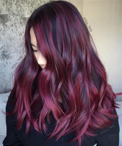 burgundy highlights on shag haircuts 40 hair color ideas that are perfectly on point