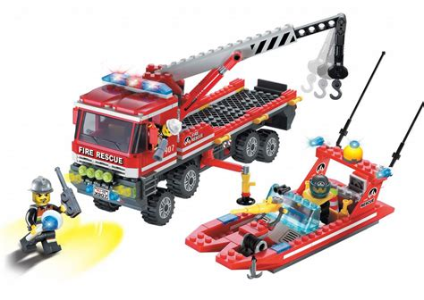 fire boat riddle bricker construction toy by enlighten brick 907 at