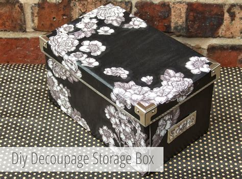 Diy Decoupage - diy decoupage storage boxes gathering