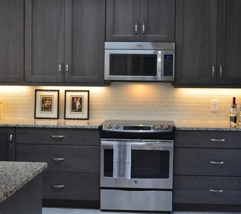 gray floors with hickory cabinets grey stained hickory cabinets grey kitchen https