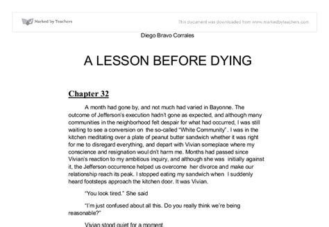 A Lesson Before Dying Essay by A Lesson Before Dying Hog Essay
