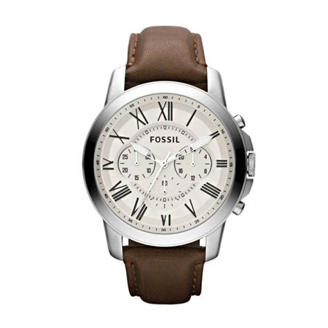 Fossil Leather D 4 8cm Artk Jpg montre homme fossil grant leather fs4735 marron achat