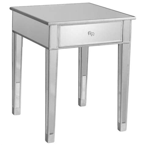 silver accent table southern enterprises montrose painted silver wood trim