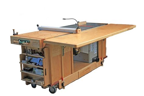 table saw bench plans ekho mobile workshop portable cabinet saw work bench