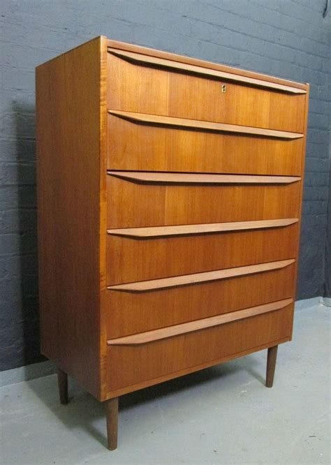 1960s Bedroom Furniture 1960s Teak Chest Drawers Tallboy Vintage Retro Mid Century Bedroom Furniture