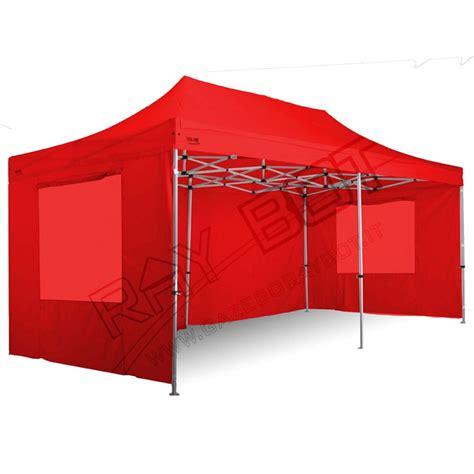 gazebo 4x8 gazebo rapido 4x8 alluminio rosso exa 55mm con finestre